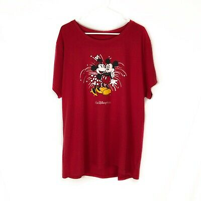 NEW Disney Parks Authentic Red Minnie Mickey Mouse Shirt Women's Size 1x
