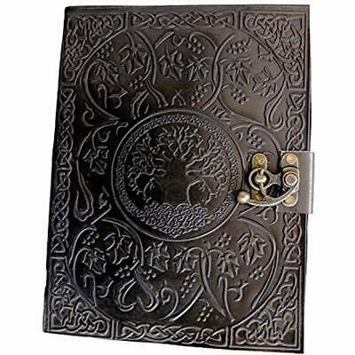Gbag Planners Refills & Covers (T) Large Tree Of Life Leather Journal Diary For