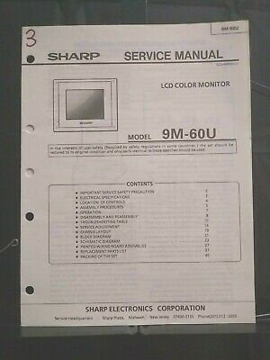 Sharp Service Manual LCD Color Monitor Model 9M-60U