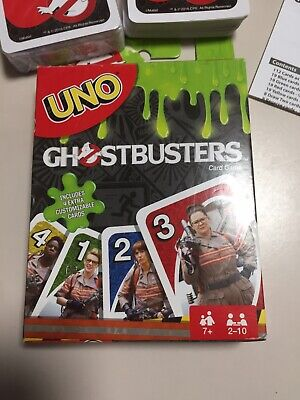 UNO Card Game (Ghostbusters edition) - Mattel Games Playing Cards (112 cards)