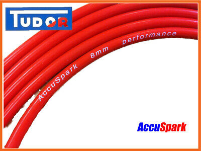 RED COPPER IGNITION HT CABLE LEAD CLASSIC CAR MOTORCYCLE TRACTOR 1 METER