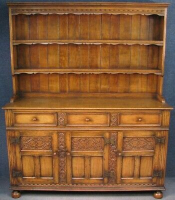 Period Style Carved Solid Oak Dresser