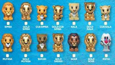 Woolworths Ooshies Disney Lion King Gold  & Regulars New From Packet-You Choose