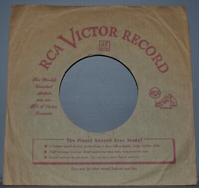 1x 45 rpm RCA VICTOR brown red semicircle text company sleeve record sleeves 7""