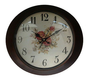 Reloj de Pared 33 cm Ovalo Oro Cristal Cocina Antiguo Paris London Nostalgia