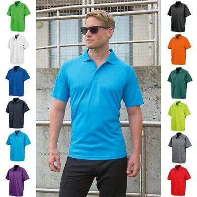 Men's Performance Air Cool Polo Shirt Breathable Stretch Quick Dry T-Shirt Tee