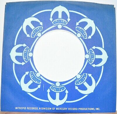 1x 45 rpm INTREPID company sleeve original record sleeves 7""