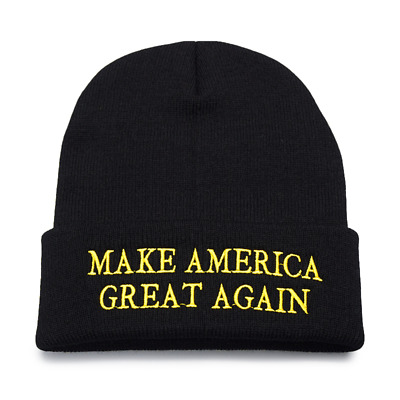 Make America Great Again Winter Hat Embroidery Men's Knitted Beanie Cap Skullies