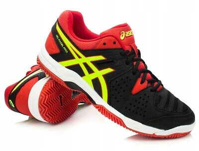 Asics Gel Padel Pro 3 SG Black / Red Tennis Shoes Trainers UK  7.5, 8.5, 9, 9.5