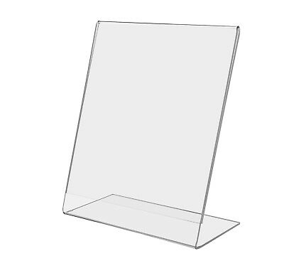 "6""W x 8""H Ad Frame Table Sign Holder Slant Back Clear Acrylic Counter Display"
