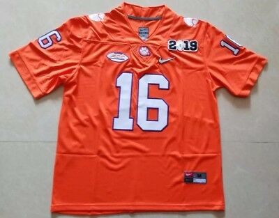 Trevor Lawrence #16 Clemson Tigers Stitched NCAA Football Jersey 2019 Champion