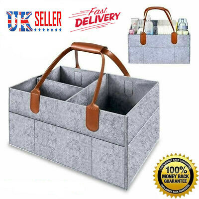 Baby Diaper Organizer Caddy Felt Changing Nappy Kids Storage Carrier Bag UK HOT