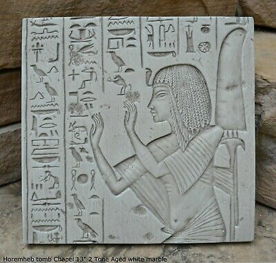 "Egyptian Horemheb tomb Chapel Sculpture Artifact Sculpture 13"" Wall plaque fragm"