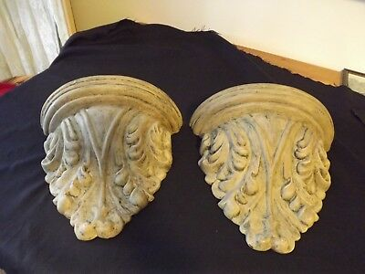 "large ORNAMENTAL WALL SCONCE SHELF 12W X 10.5"" 2 available GORGEOUS"