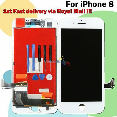 Assembly LCD Touch Screen For iPhone 8 Digitizer Display Replacement White Frame