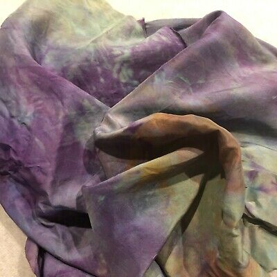 Hand Dyed silk Fabric-habotai  ,44 inches x 21 inches