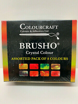 Brusho Crystal Colours Assorted Pack of 8 Colors