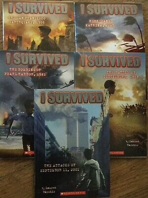 Set of 5 I Survived book series by Lauren Tarshis...