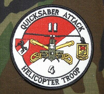 US Army 4th (Helicopter) Troop, 11th Armored Cavalry Regiment Full Color Patch