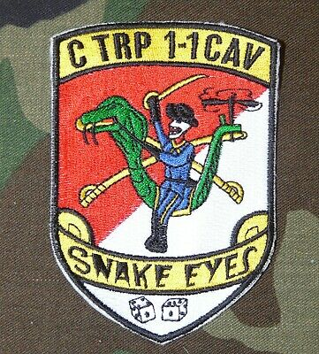 US Army C (Helicopter) Troop, 1st Sqdn, 1st Cavalry Regiment Full Color Patch