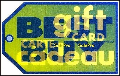 Best Buy 2006 Canada Carte Cadeau 3D Lenticular Bilingual Collectible Gift Card