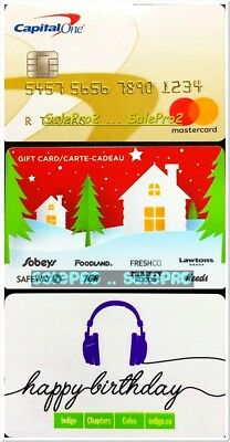 3x SAFEWAY CHRISTMAS CAPITAL ONE COLES HAPPY BIRTHDAY COLECTIBLE GIFT CARD LOT