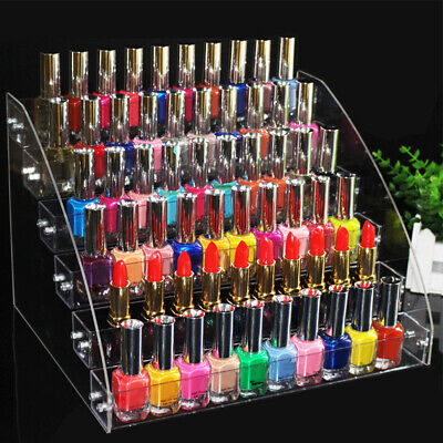 Clear Nail Polish Rack Organizer Display Holder Shelf Cosmetic Varnish Stand New