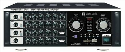 Martin Ranger MA-2500K 1000W Professional Mixing Amplifier W/ Bluetooth