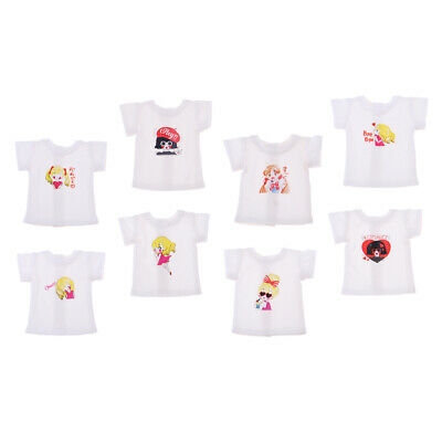 Fashion Dolls Clothes Simple Style Short Sleeve T-shirt for 1/6 Blythe Doll