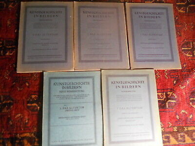 5 Lot KUNSTGESCHICTE in BILDERN Antiquities books Babylonia EGYPT Roman