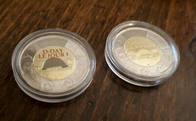 NEW! 2019 75th D-Day Normandy COLOURED + NO COLOUR UNC Canada $2 Dollar Coins