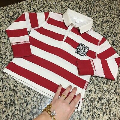 2T 24 Months Authentic Burberry Rugby Boys Polo Shirt Children Toddler Long Slee