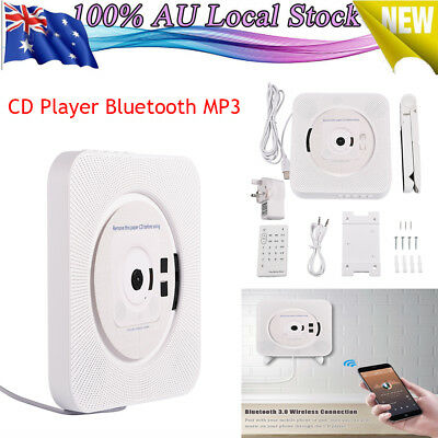 NEW Portable Wall Mounted Stereo Remote Control CD MP3 Player UK Plug