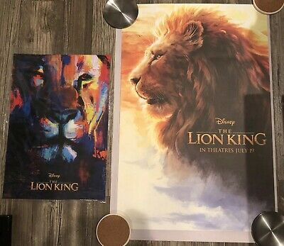 RARE Disney Movie Rewards DMR Member The Lion King +AMC Fan Event LIMITED POSTER