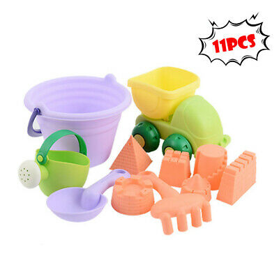 4Pcs Beach Sand Play Toys Bucket Rakes Sand Watering Sand Kids Play Bath ToysFE