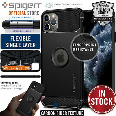 iPhone 11/Pro XR XS Max Case Genuine SPIGEN Rugged Armor Shockproof Cover Apple