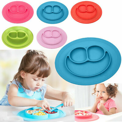 Silicone Bowl Mat Baby Kids Child Suction Table Food Tray Placemat Plate Feeding