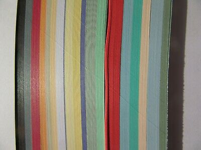 QUILLING PAPER 3MM MIXED COLOURS - 500 strips - 19 colours