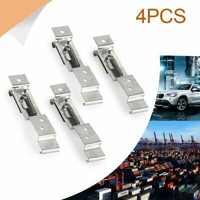 4X Trailer Number Plate Clips Brackets Holder Spring Loaded Stainless Steel