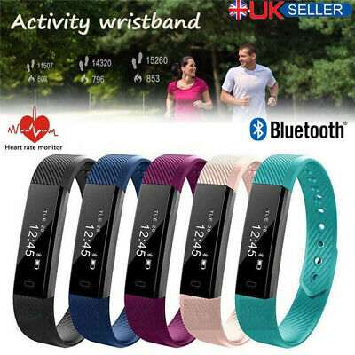 Fitness Step Activity Tracker Sports Smart Watch Fit Bit Heart Rate Step Monitor