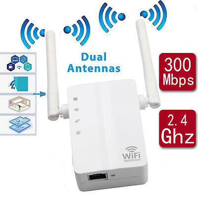 300Mbps WirelessN WiFi Repeater Range Extender Signal Booster Network Router