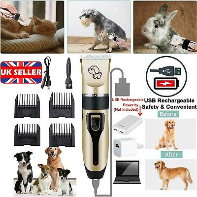 Rechargeable Cat Dogs Clipper Cordless Pet Clipper Hair Shaver Grooming Trimmer