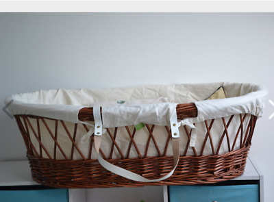 Moses Basket Replacement cover liner dressings Little Green Sheep organic cotton