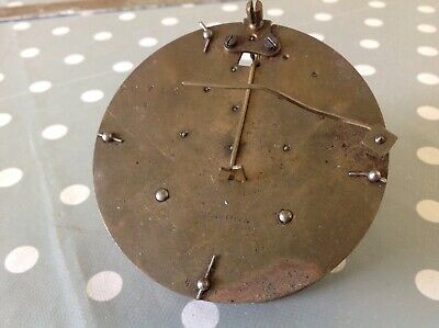 Antique French Barrel Clock Movement 95mm For Spare Parts Untested