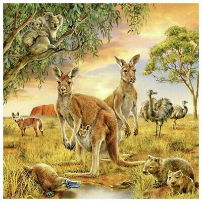 5D Full Drill Diamond Painting Embroidery Animal Kangaroo Kits Arts Decors Gifts