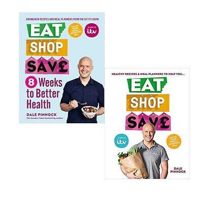 Dale Pinnock Eat Shop Save 2 Books Collection Set Recipes & mealplanners NEW