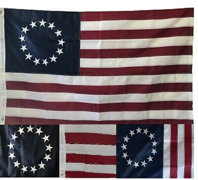 Trade Winds 3x5 Embroidered Betsy Ross USA American 240D Sewn Nylon Flag 5x3