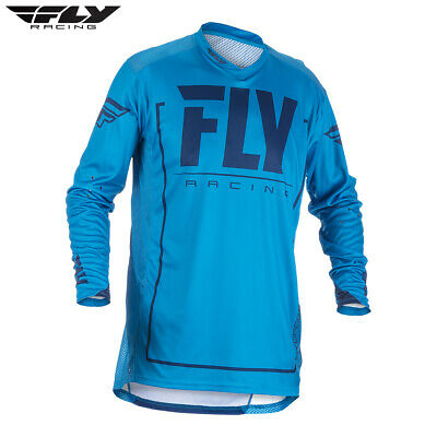Fly Racing Lite Hydrogen Motocross MX Jersey Blue Navy Adult Small