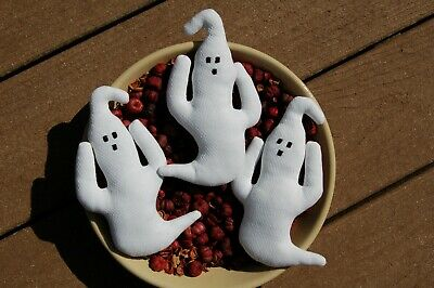 Primitive Halloween, Fall Ghost Ornies, Bowl Fillers