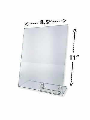 "8.5"" x 11"" Sign Holder with Business Card Pocket Ad Flyer Display Frame Qty 12"